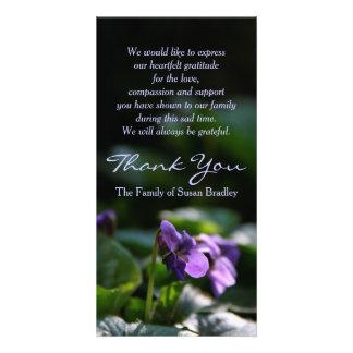 Wilde Veilchen - ErinnerungsBeileid danken Ihnen Bilderkarten
