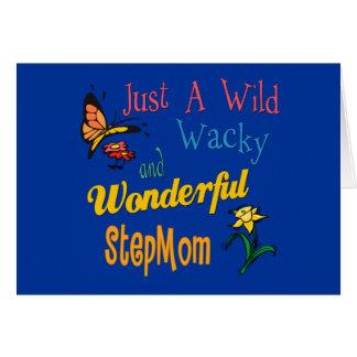 Wilde verrückte wunderbare Stiefmutter Grußkarte