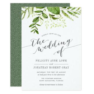 Wilde Wiesen-botanische Hochzeits-Einladung 12,7 X 17,8 Cm Einladungskarte