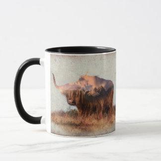 Wilde Yak - Yak Nepal - Kunst der doppelten Tasse