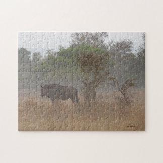 Wildebeest im Nebel