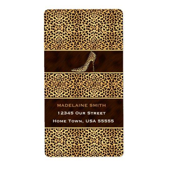Wilder Gepard-Tierdruck für sie Versand Aufkleber