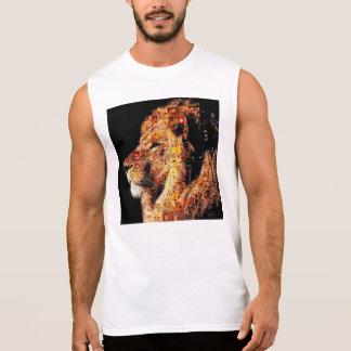 Wilder Löwe - Löwecollage - Löwemosaik - Löwe wild Ärmelloses Shirt