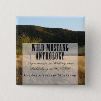 Wilder Mustang-Anthologiequadratknopf Quadratischer Button 5,1 Cm