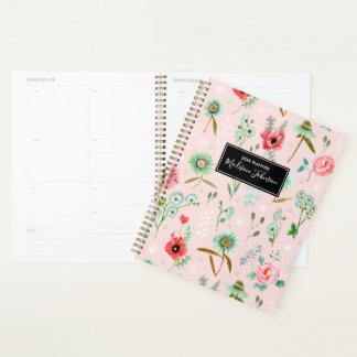 Wilder rosa Planer des Blumen-Muster-  der