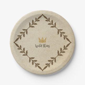 Wilder Sache-Rebe-Pappteller Pappteller