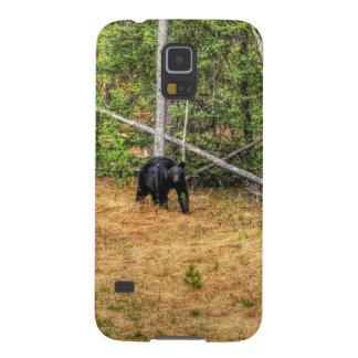 Wilder schwarzer Bär u. Yukon-WaldFoto-Kunst Galaxy S5 Hüllen
