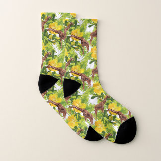 Wildes Giraffen-Muster Socken