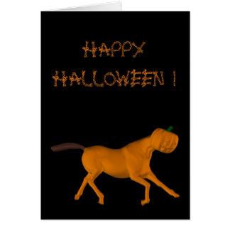 Wildes laufendes Pferd nachts Halloween Grußkarte