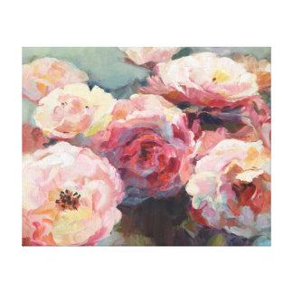 Wildes Rosa-Rosen Leinwanddruck