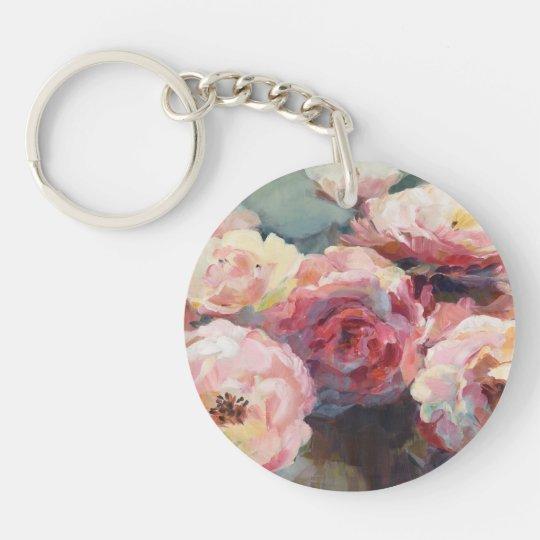 Wildes Rosa-Rosen Schlüsselanhänger