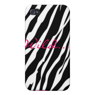Wildes RosaZebra iPhone 4/4S Cover