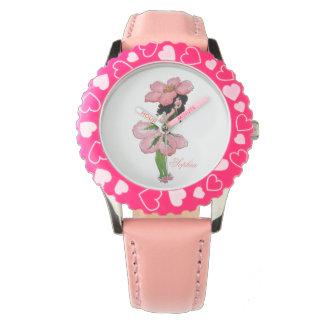 Wildes Rosen-niedliches Blumen-Kinderlustiges mit Armbanduhr