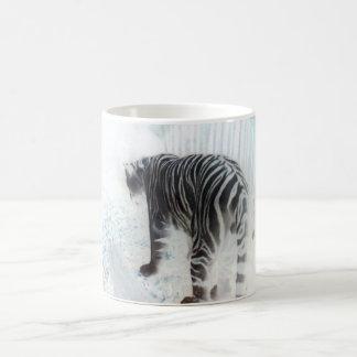 Wildes Tier des weißen Tigers Kaffeetasse