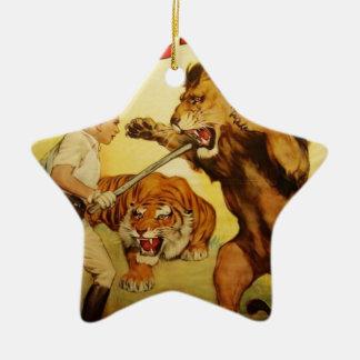 Wildes Tier zahmer Keramik Stern-Ornament