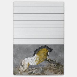 Wildes Wildlederappaloosa-Pferd Post-it Haftnotiz