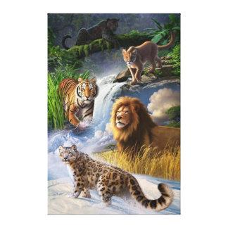Wildkatzen Leinwanddruck