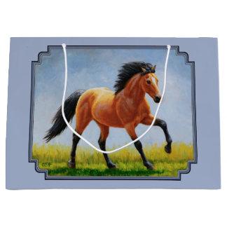 Wildleder-Pferdelaufen hellblau Große Geschenktüte