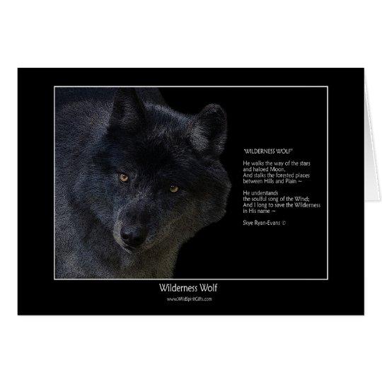 WILDNIS-WOLF Tier-Kunst-u. Mitteilungskarte