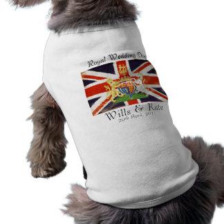 Willen und Kate königlicher Hochzeits-HundeT - T-Shirt