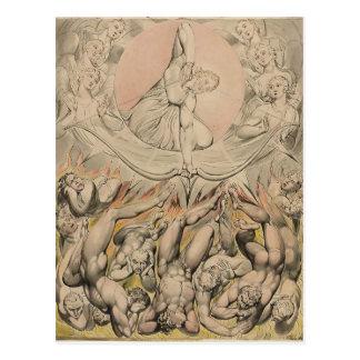 William Blake: Casting von Rebellenengeln zur Postkarte