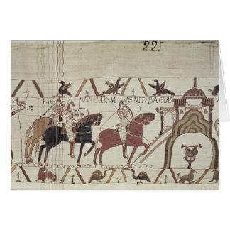 William der Eroberer kommt in Bayeux an Karte