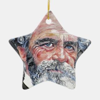 William James - Aquarellporträt Keramik Stern-Ornament