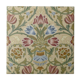 William Morris-Brokat-Blumenmuster Kleine Quadratische Fliese
