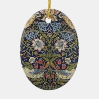 William Morris-Erdbeerdieb-Entwurf 1883 Ovales Keramik Ornament