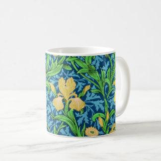 William Morris-Iris, Gelb und Kobalt-Blau Kaffeetasse