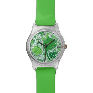 William Morris-Jacobean Blumen-, Smaragdgrün Uhr