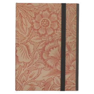 William Morris-Rosa und Mohnblumen-Textilmuster