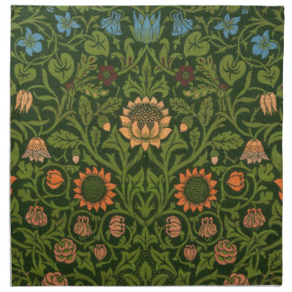 William Morris-Tapisserie-Wolldecke-roter grüner Serviette