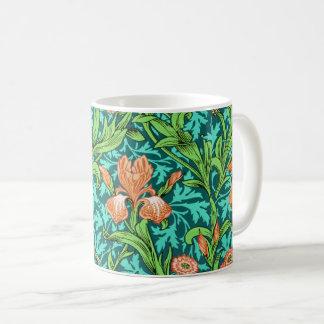 William Morrisiris, -orange und -Türkis Kaffeetasse