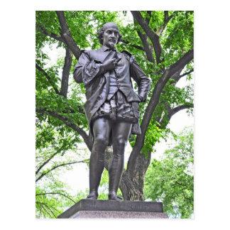 William Shakespeare - Central Park Postkarte