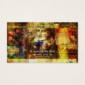 William Shakespeare-Zitat Visitenkarte