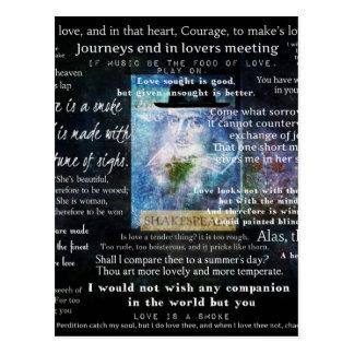 William- Shakespearezitate über Liebe Postkarte