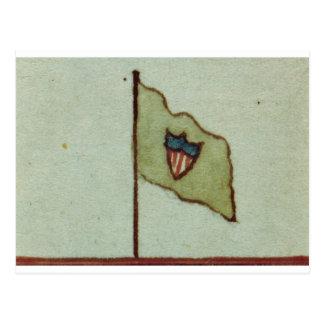Williammaxwells-Brigaden-Flagge Postkarte