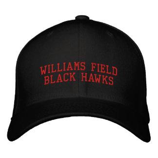 Williams-Feld-Schwarz-Falken Bestickte Baseballkappe
