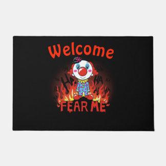 Willkommen befürchten Sie mich Clown Türmatte