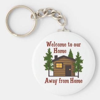Willkommen heraus zum Zuhause weg von Zuhause Schlüsselanhänger