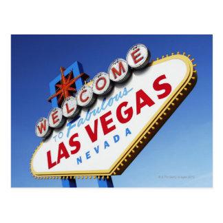 Willkommen nach fabelhaftes Las Vegas Postkarte