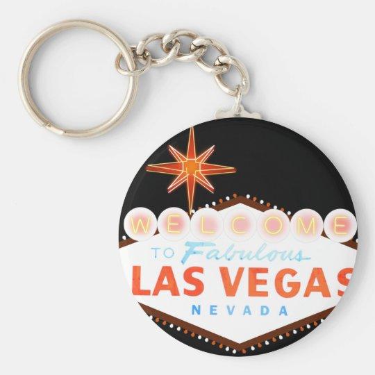 Willkommen nach fabelhaftes Las Vegas Standard Runder Schlüsselanhänger