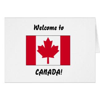 Willkommen nach Kanada Karte