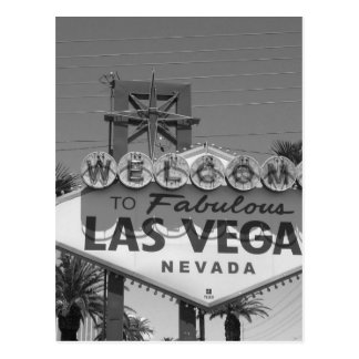 Willkommen nach Las Vegas Postkarte