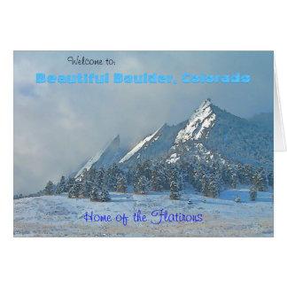 Willkommen nach schönes Boulder, Colorado Karte