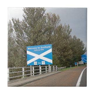 Willkommen nach Schottland - Anglo-Schottisches Fliese