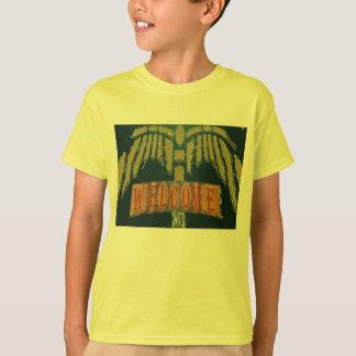 Willkommen:  Vintage EmeralGold Steine T-Shirt