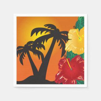 Willkommen zu einem schönen tropischen Paradies Serviette