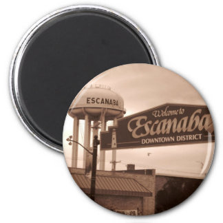 Willkommen zu Escanaba Magneten Runder Magnet 5,7 Cm